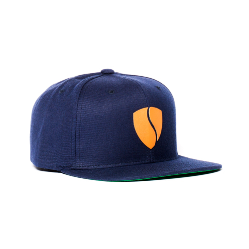 Hercules Hat / Navy - Tan Leather