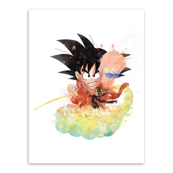 DBZ Son Goku Watercolor Poster