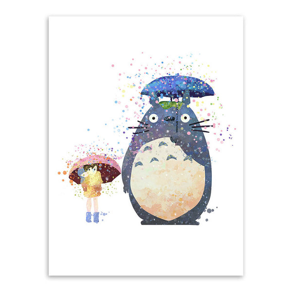 My Neighbor Totoro Watercolor Poster