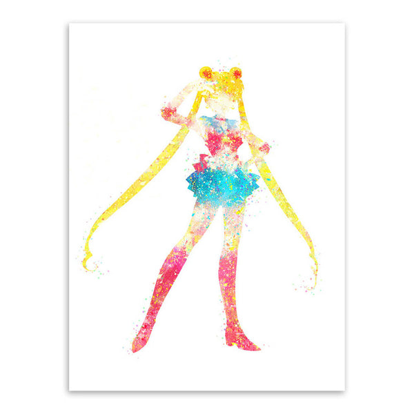 Sailor Moon Watercolor Poster