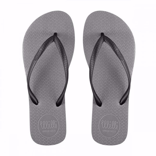 Grey Flip Flop with Black Strap Slim Fit