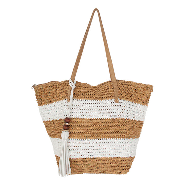 Pia Rossini Antigua Tote Natural Stripe