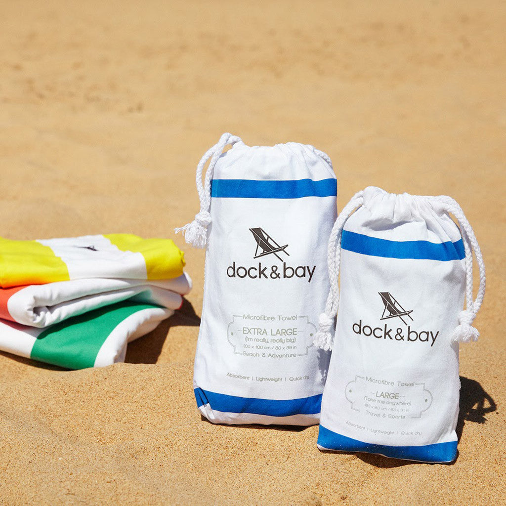 dock and bay microfibre towel