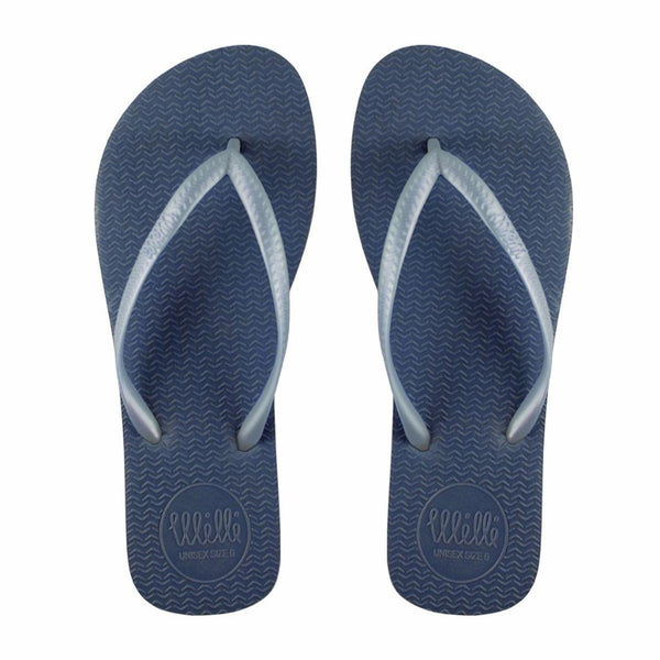 Blue Flip Flop with Metallic Sky Blue Strap Slim Fit