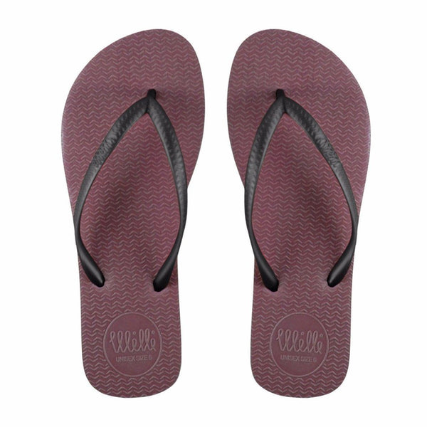 Burgundy Flip Flop with Black Strap Slim Fit
