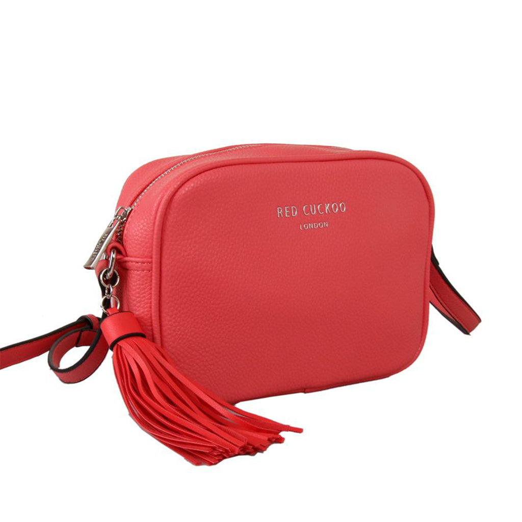 red cuckoo coral bag