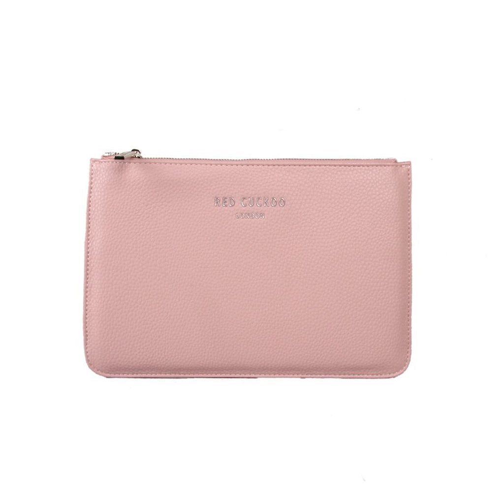 dusty pink clutch bag