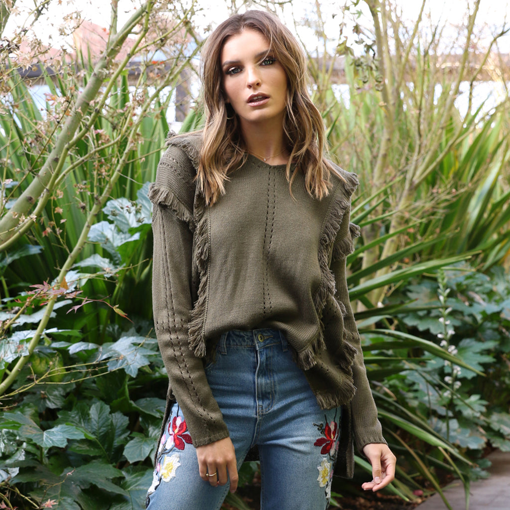 Lost in Lunar Freya Fringe Knitted Jumper