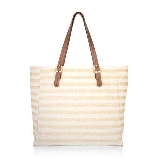 Lombardy Tote Gold Stripe