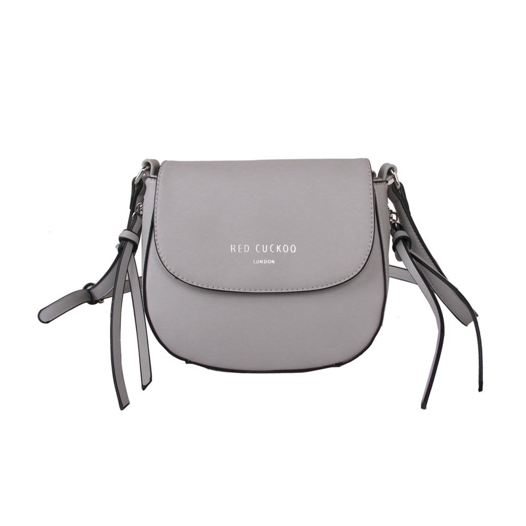 Cross Body Saddle Bag Grey