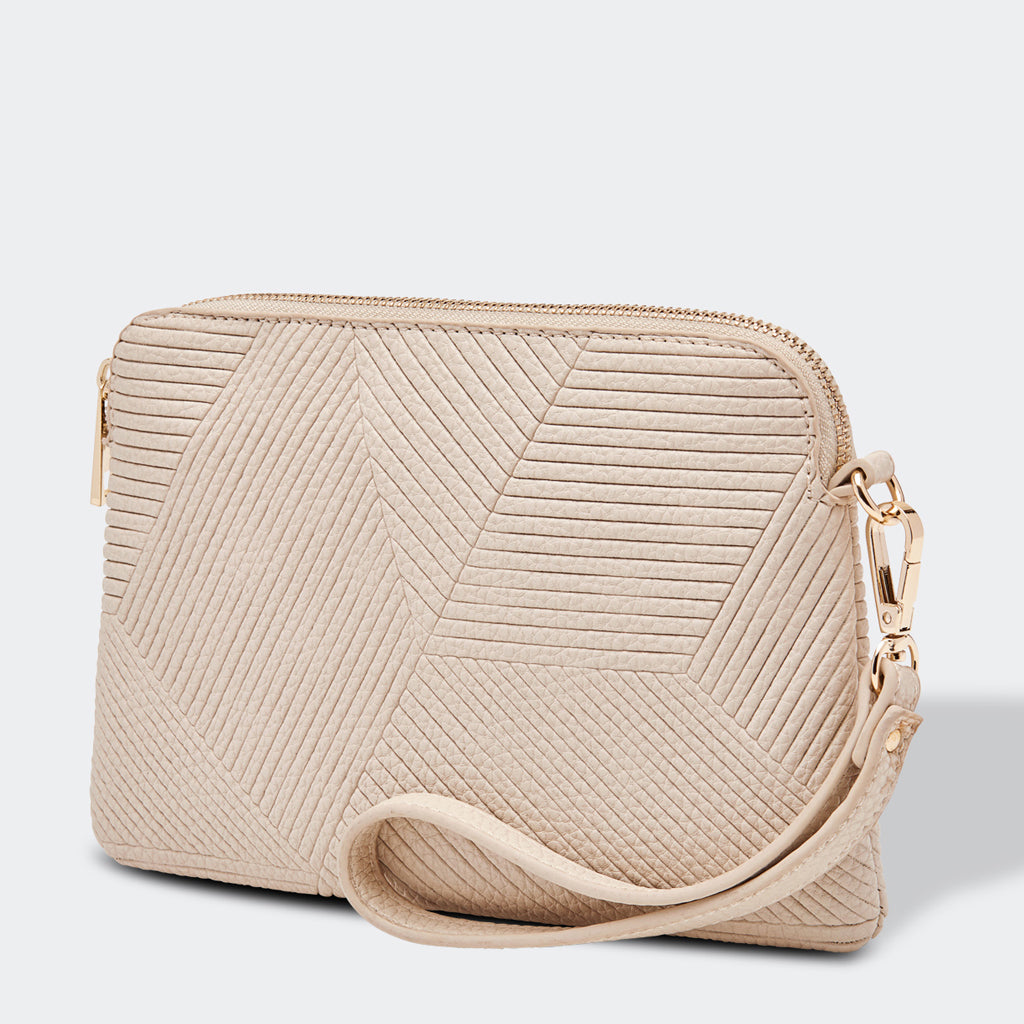 Louenhide Mandy Clutch Bag Oyster