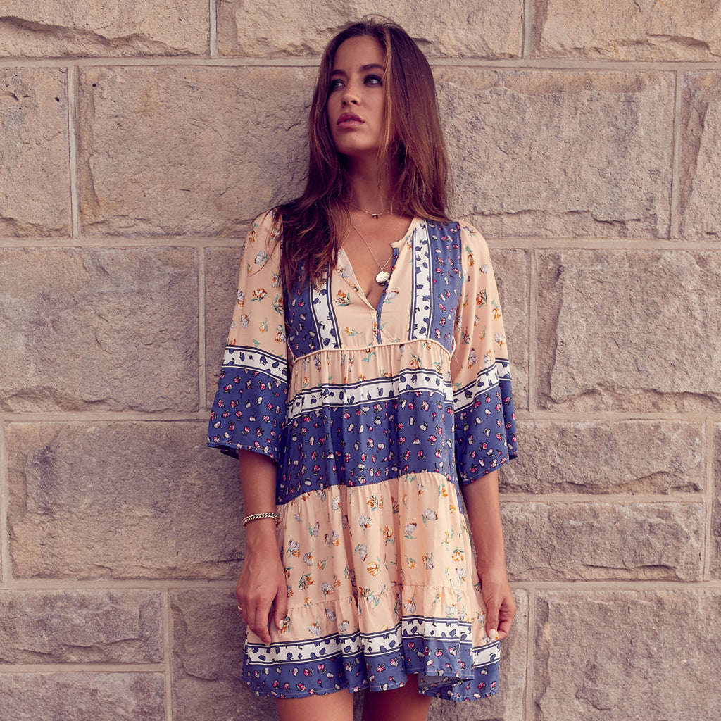 midsummer nights mini dress