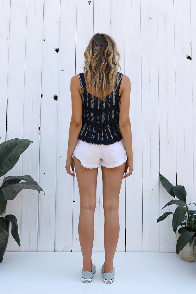 Lost In Lunar Monaco Fringe Top