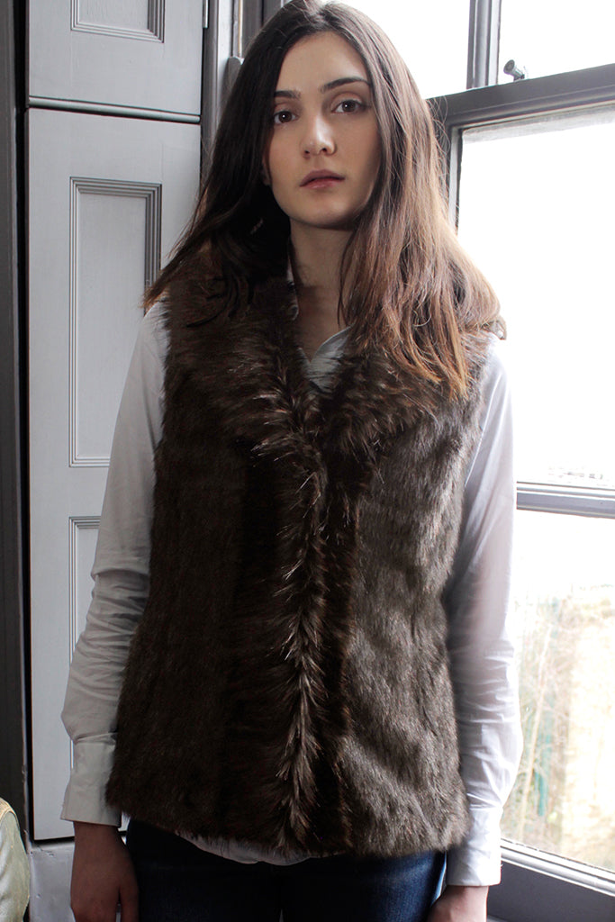 Murmanksy Collar Faux Fur Gilet