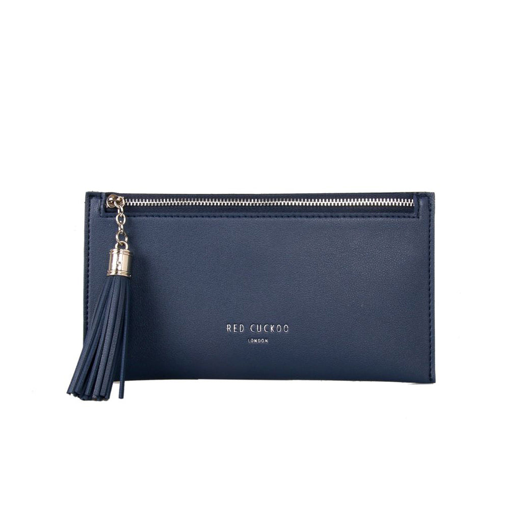 Navy Blue Tassel Purse