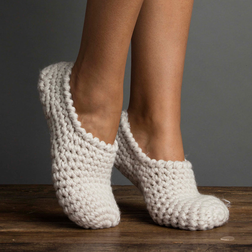 Nona Bootie Slipper with Faux Fur White Sand