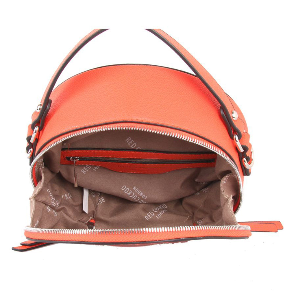 red cuckoo orange bag