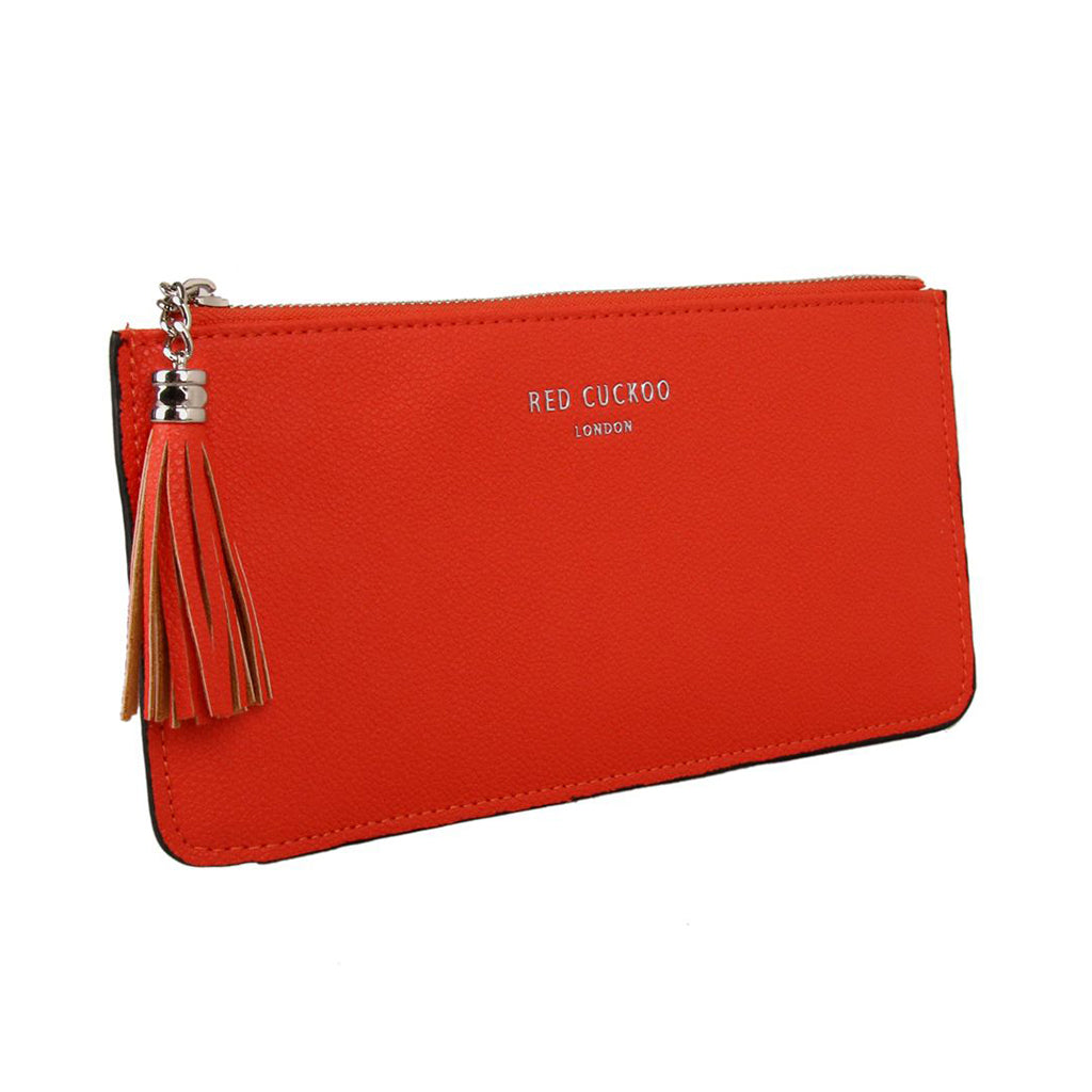 red cuckoo orange purse