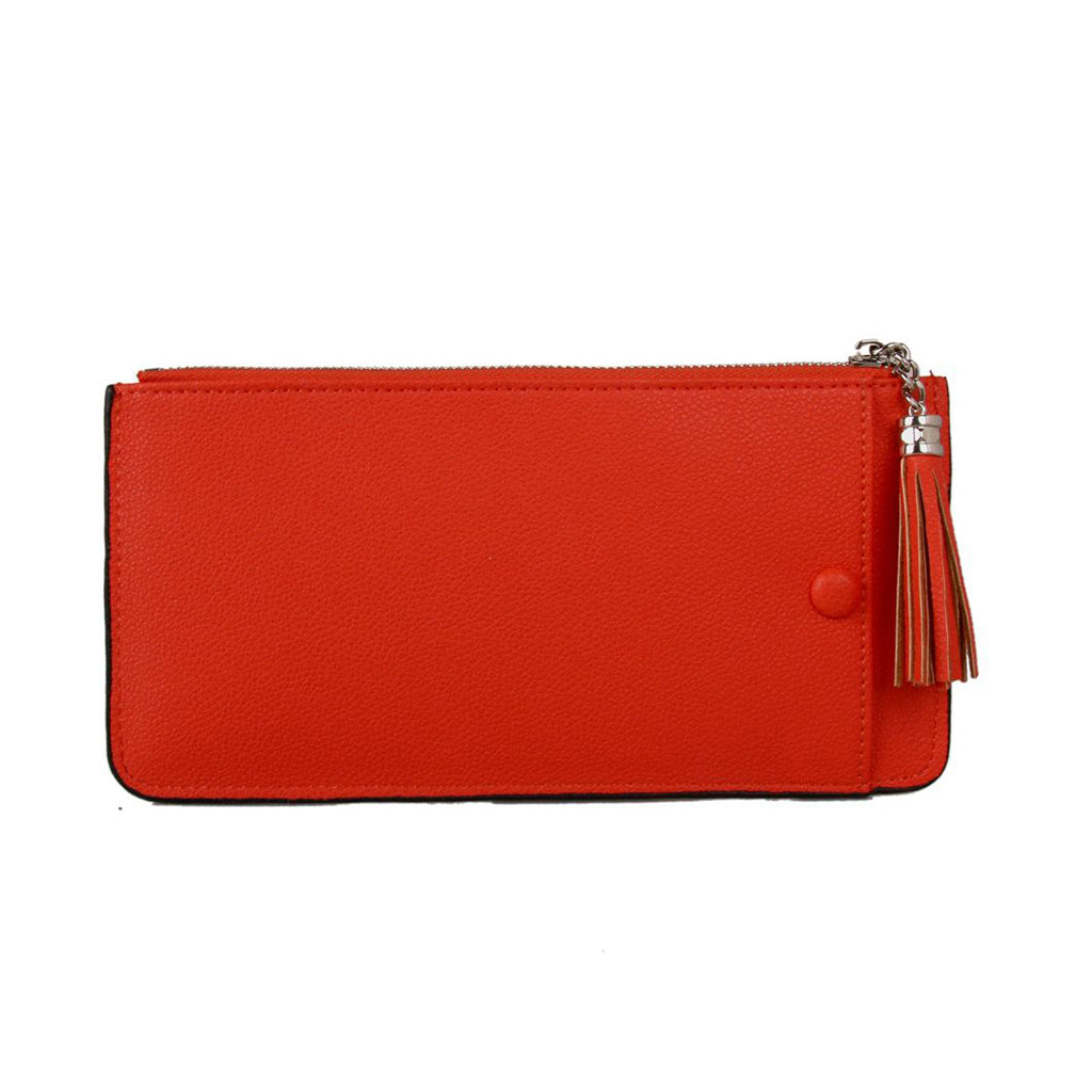 bright orange purse