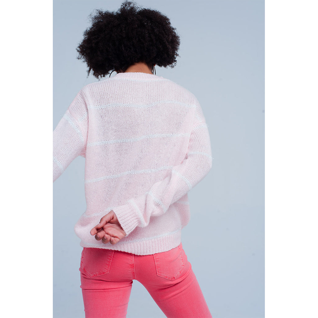 long sleeve pink jumper