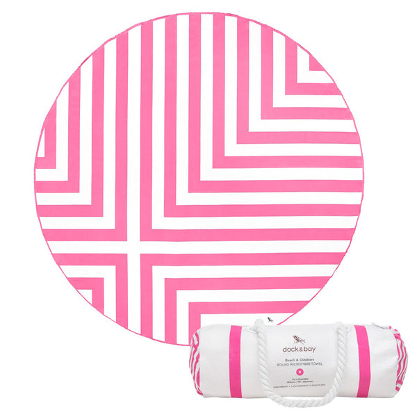 dock and bay round microfibre towel