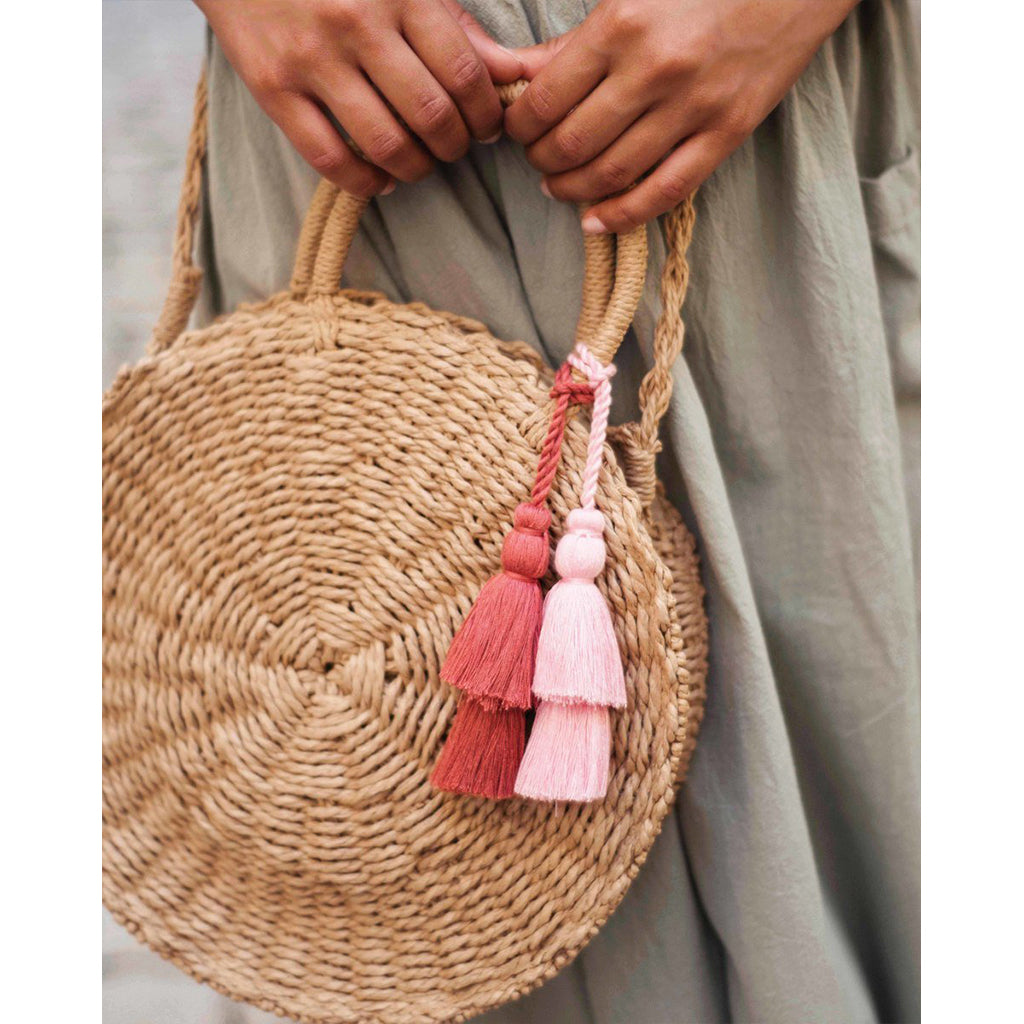 powder serena bag with tassels