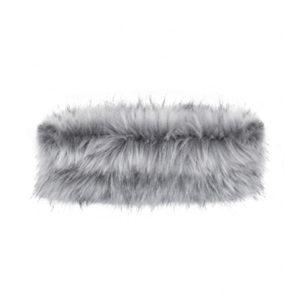 Grey Lynx Faux Fur Headband