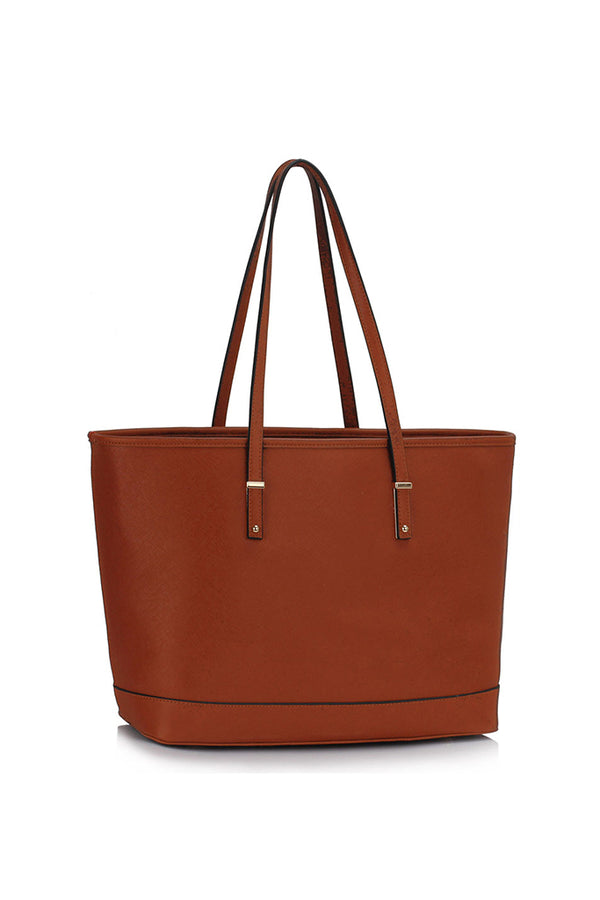 Faux leather Tote Bag Tan Leather