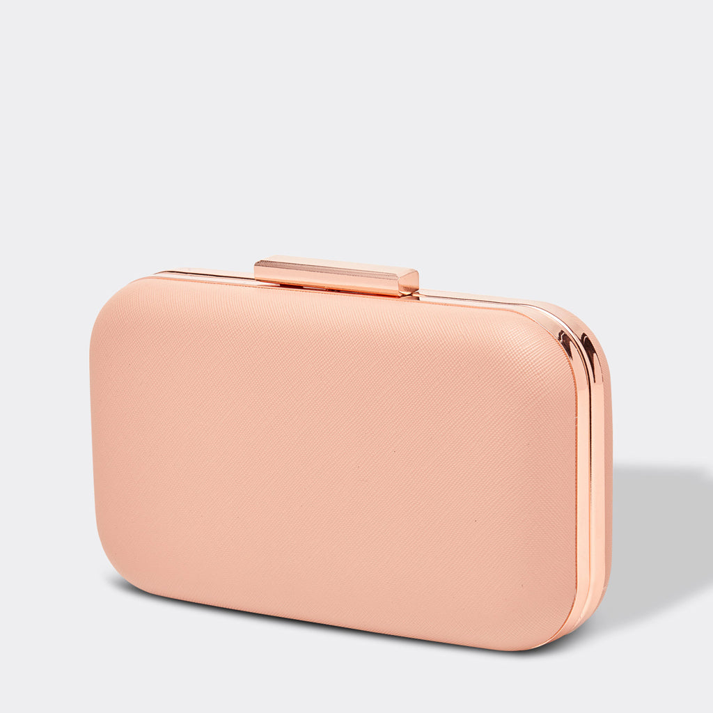 Louenhide Tango Box Clutch Bag Blush Pink