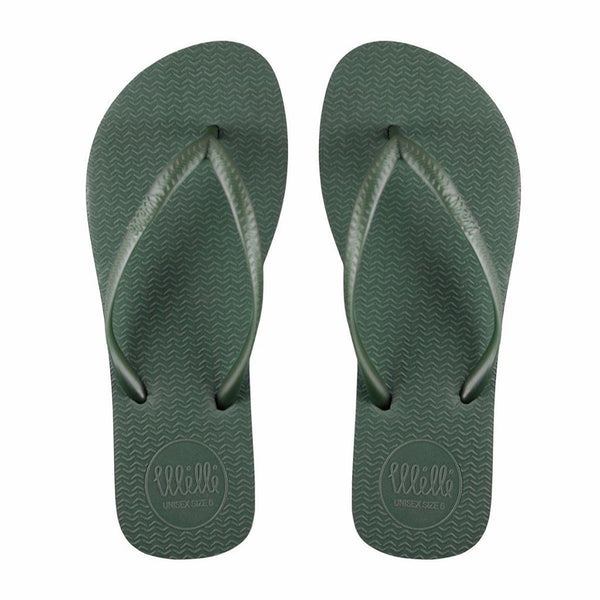 Green Flip Flop with Green Strap Slim Fit