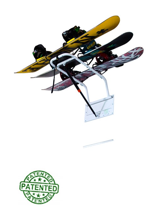 Snow Board Storage Rack - Home or Garage Snowboard Storage
