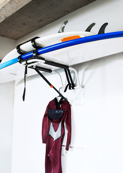 Surf Board Storage Wall Rack - Surfboard Hanger for Garage or Home
