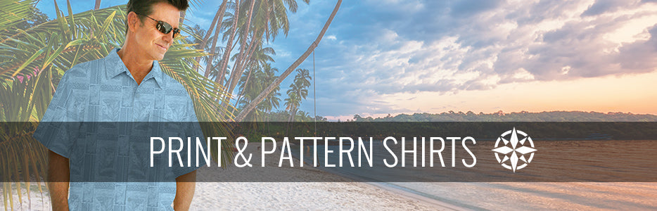 Men's Hawaiian and Tropical Print & Pattern Shirts