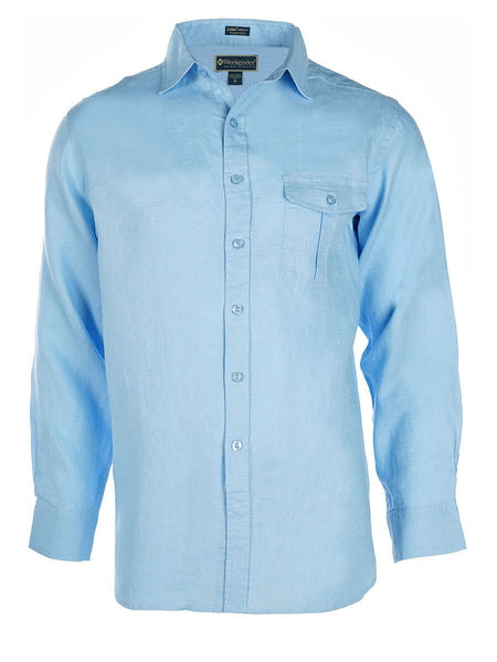 Men's Linen Shirt - Cook Island Long Sleeve