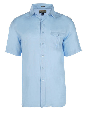 Men's Linen Shirt - Cook Island Short Sleeve