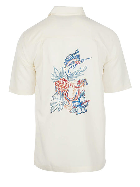 Men's Hawaiian Embroidery Shirt - Tropictail