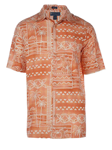 Men's Hawaiian Silk Cotton Print Shirt - Kaneohe