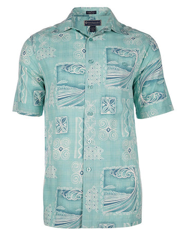 Men's Hawaiian Silk Cotton Print Shirt - Surf Tube