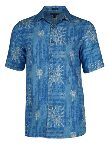 Men's Hawaiian Silk Cotton Print Shirt - Island Life