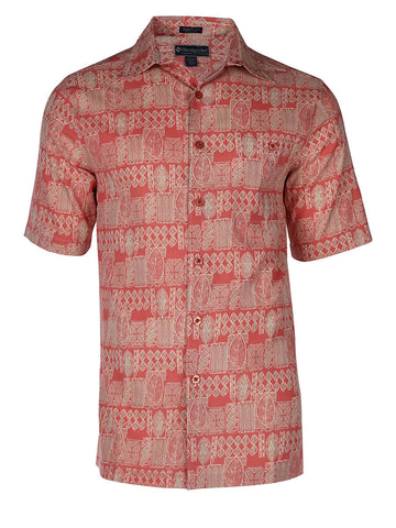 Men's Hawaiian Silk Cotton Print Shirt - Tropic Forest