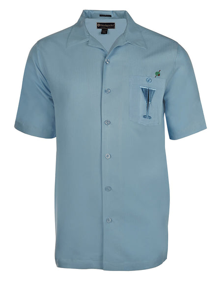 Men's Hawaiian Embroidery Shirt - Hidden Martini