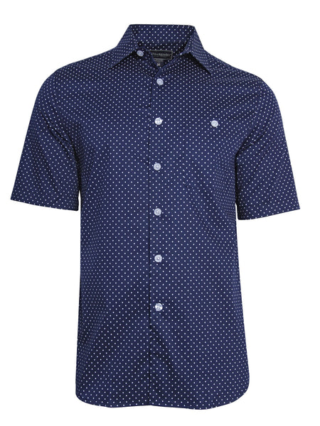 Men's Hawaiian Cotton Print Shirt - Polka