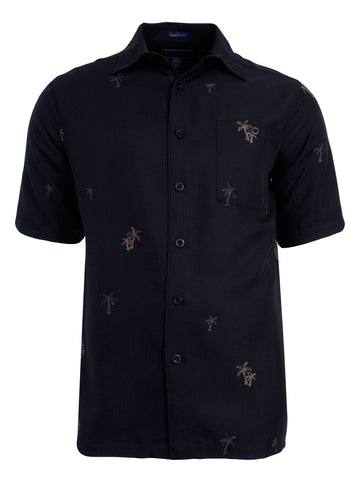 Men's Hawaiian Embroidery Shirt - Palms