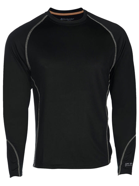 Men's Rashguard Swim Shirt - Aqua Solar Loose Fit Long Sleeve