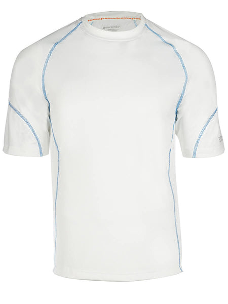 Men's Rashguard Swim Shirt - Aqua Solar Loose Fit Short Sleeve