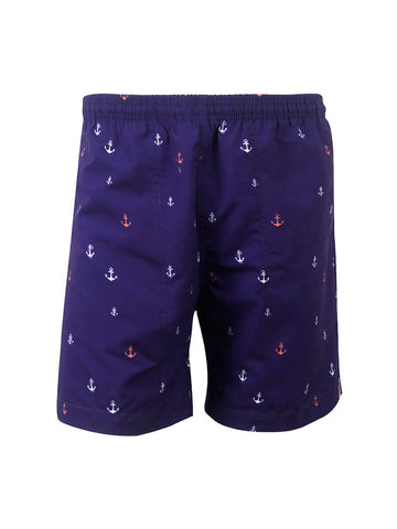 Men's Print Swim Trunk - Anchors Away