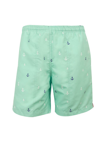 Boys (4-7) Print Swim Trunk - Anchors Away