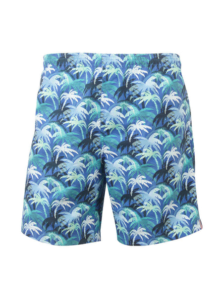 Men's Print Swim Trunk - Palm Grove