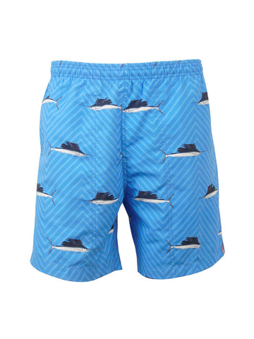 Men's Print Swim Trunk - Sailfish Herringbone