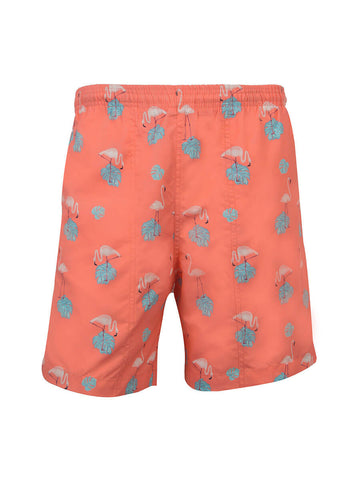 Boys (8-20) Print Swim Trunk - Flamingo Day